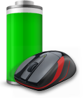 Battery icon with M525 mouse