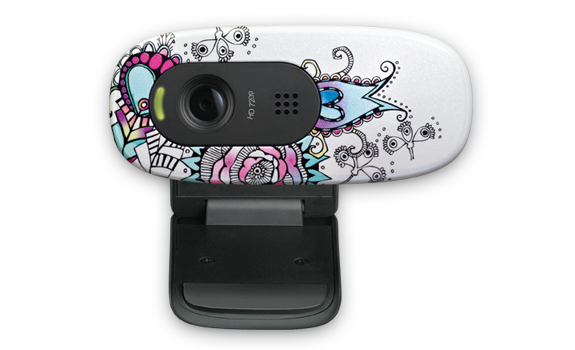 HD Webcam C270 Floral Foray Glamour Image Gallery 1