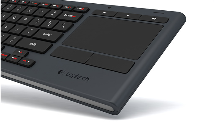 K830 touchpad close up