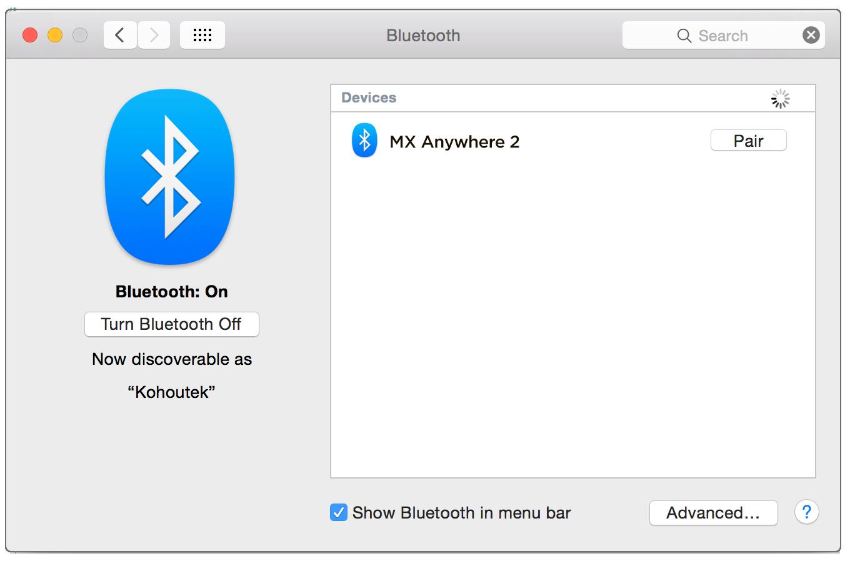 installateur souris sans fil mac