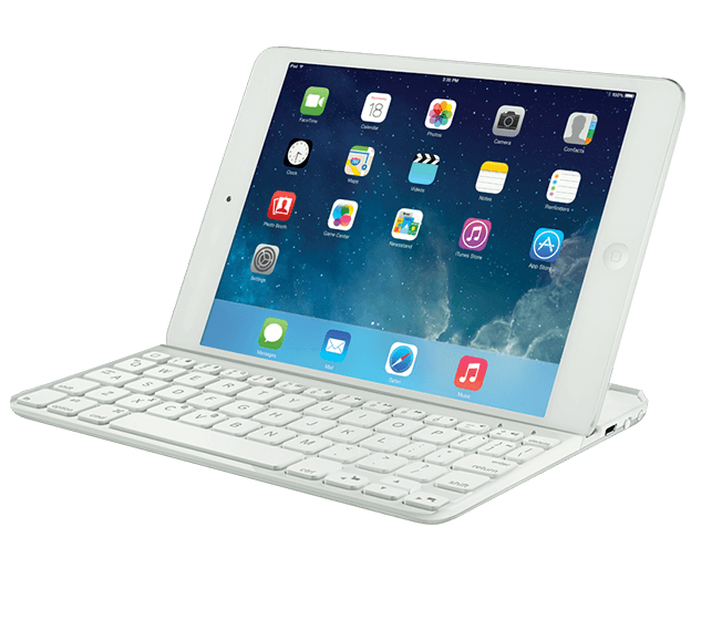 Ultrathin keyboard for iPad mini white