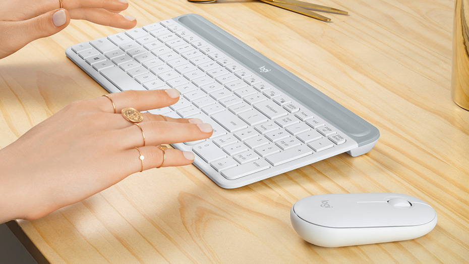 Low Profile Scissor Keys Provide a Fluid and Familiar Laptop Like Typing Experience.