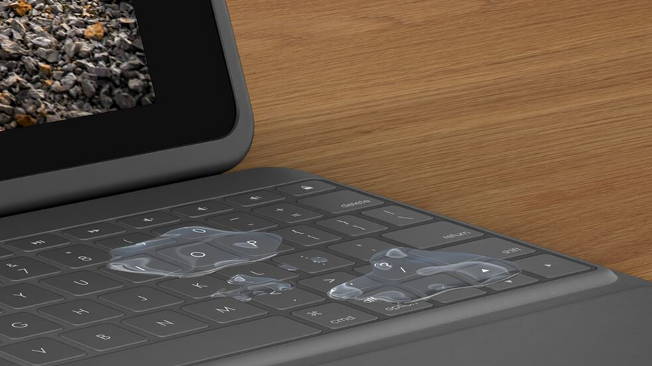 Rugged Folio | Spills on its keyboard face